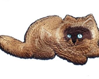 FABRIC FUSIBLE APPLIQUE: 270 * 110mm Brown cat