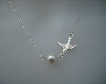 Sterling Silver Necklace - Flying With Treasure
