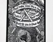 Psalm 59 Wolf head skull ...