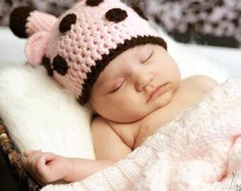Crochet Giraffe Hat, Newborn Photography Prop
