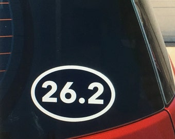 26.2 marathon vinyl car window decal