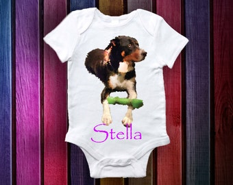 Personalized Picture/Image with a personlized message Onesie - Baby Gifts- Baby Onesie