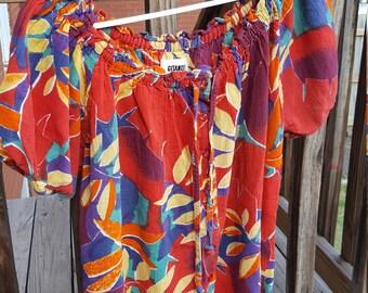 Vintage Gitano Shirt Off Shoulder or Regular Wear Summer Top