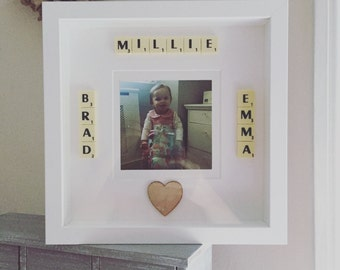 Personalised photo scrabble art