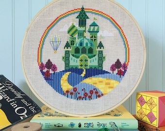 The Emerald City - Wizard of Oz - Satsuma Street cross stitch pattern PDF - Instant download