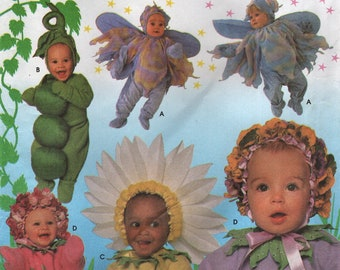 Simplicity 5882 Toddler's Costume Winged Fairy, Sunflower, Daisy Bunch, Peas In Pod Sizes 1/2 - 4 UNCUT Also Issued as Simplicity 8273