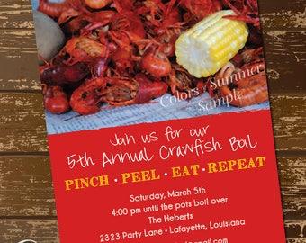 crawfish invites etsy