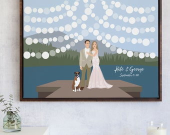 Wedding Guest Book Alternative for Lake Wedding Guestbook - Mountain Wedding Guest Book - Outdoor Wedding Guest Book