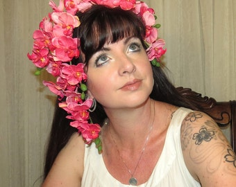 ORCHID TROPICS 2 Pink Orchid Tropical Headdress