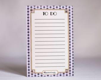 Notebook Art Deco purple