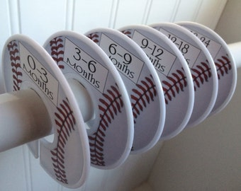 Baby Closet Dividers Organizers Clothes Dividers Baseball Nursery Decor