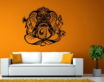 Ganesha Hindu Elephant God India Yoga Wall Stickers Decals Vinyl Mural Decor Art L2130