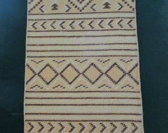Dollhouse Rug one of a kind handstitched