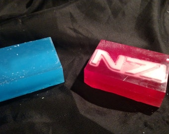 Mass Effect N7 Bar Soap - Clear and Goats Milk Soap - Individual Bars