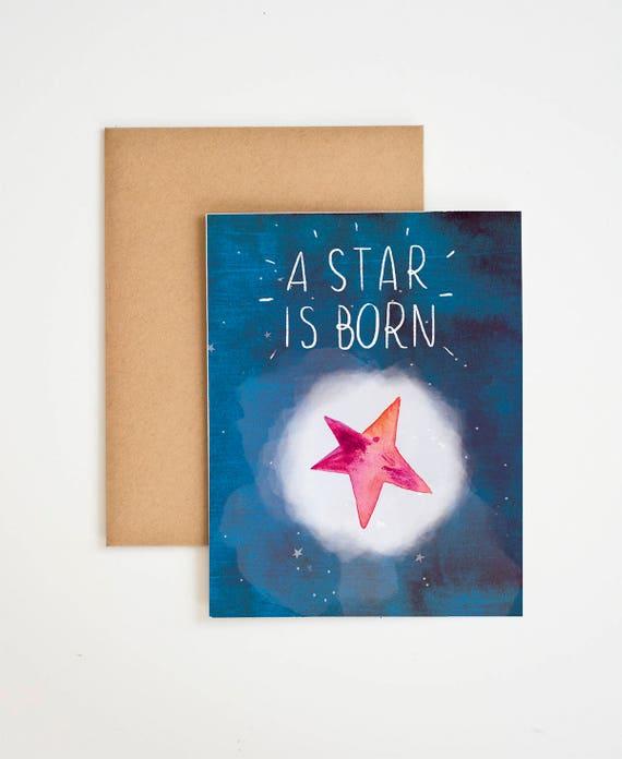 A star is born baby greeting card nursery decor a star is born baby greeting card nursery decor childrens art baby room decor first birthday star artwork meera lee patel m4hsunfo