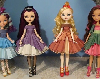 Royal Birthstones Printable Doll Clothes - Fits Ever After High and more!