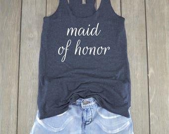 Maid of Honor Shirt | Bridesmaid - Wedding Shirt - Bachelorette Party - Bridal Party - Bridesmaid Top - Maid of Honor - Matron of Honor
