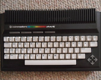 Vintage Computer - Commodore Plus 4 - Original Parts Packaging - Clean Condition - Manuals Plugs - Historical Computer - Keyboard