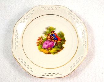 Vintage Schwarzenhammer Fragonard Courting Couple Plate
