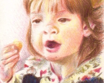 Custom Child Portraits. Framed. Sizes A3, A4, and A5.