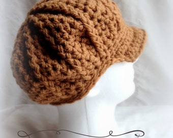 Crochet Women's Newsie hat - Custom made to order