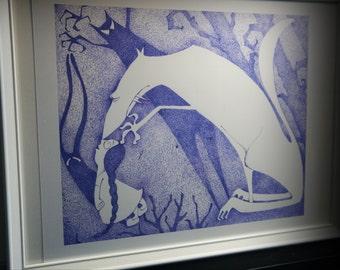 "Original Art Giclée Print. ""Face your fears"""