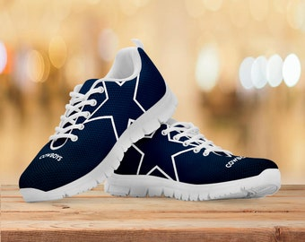 Dallas Cowboys Fan Running Shoes/Sneakers/Trainers - Womens, Mens, Kids Sizes - Custom Football Gift - NFL Gift - Collector Gift