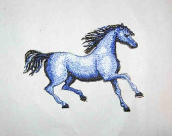 "Embroidered TROTTING HORSE Iron-on/Sew on Patch Badge Applique 3 3/4""....choose color"