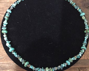 Vintage Turquoise Necklace with toggle clasp