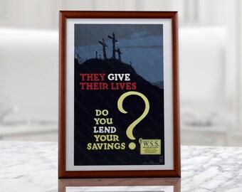 War Savings Stamps Propaganda Poster, war savings, war stamps, propaganda poster, american propaganda, ww1 propaganda, wwi propaganda poster