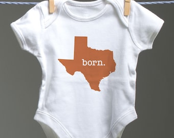 Texas Onsie, Texas Baby Bodysuit, Texas Baby Shower Gift, Aggie Baby, A&M Baby, Longhorn Baby, UT Baby