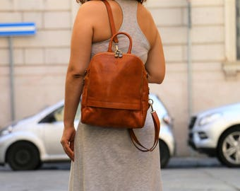 leather backpack,leather bag,leather tote,shoulder bag,handmade leather bag ,brown leather bag, Messenger bag,Cross Body bag