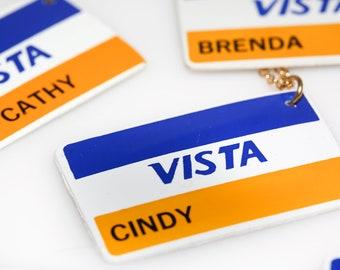 Vista Card Necklace