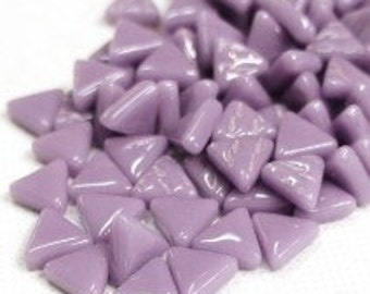 MINI Lavender Purple Triangle Shaped Mosaic Tiles 10mm//Recycled Glass Tiles//Mosaic Supplies//Jewelry Supplies//Mosaics