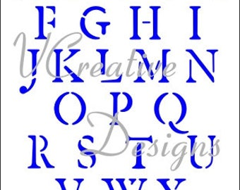 Roman Alphabet stencil