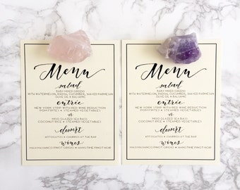Menu stamp / Calligraphy Stamp / Diy menu / wedding menu / wedding stamp / modern calligraphy / wedding invitations / rubber stamp