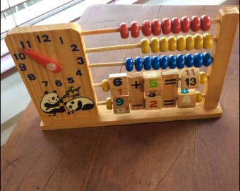 Vintage Wooden Children's Abacus Board