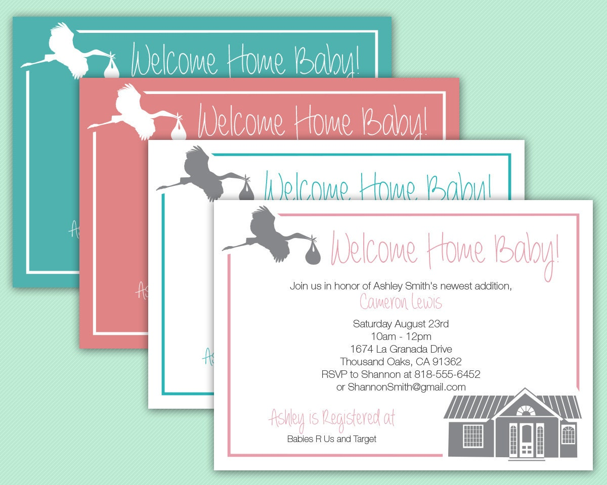Welcome Home Baby Invitation Baby Shower Viewing Party