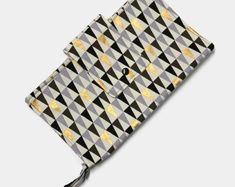 Nappy Diaper Clutch - Peaks Gold / Silver - CLEARANCE