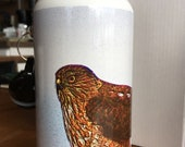 Sharp-shinned Hawk Water Bottle - Aluminum - 20 Oz