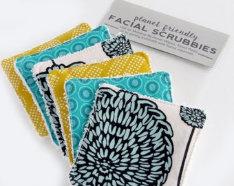 Face Scrubbies - Set of 6 - Jade Mango - Planet-Friendly Makeup Remover Pads