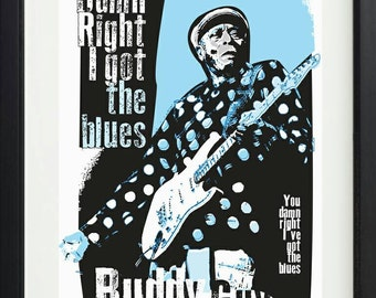 Buddy Guy inspired unframed poster. Specially created.