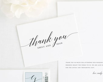 Delicate Romance Thank You Cards