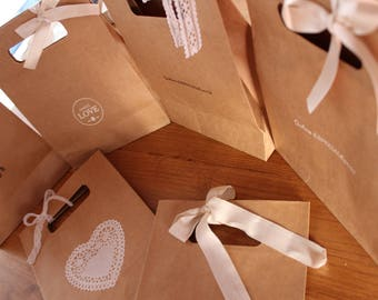 Wedding Bag Kraft  - 19x25x9 cm