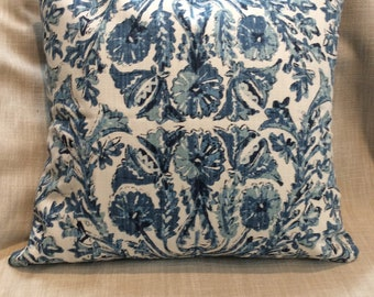 Sofia Azure Blues pillow cover 18x18 20x20 22x22 24x24 26x26 13x26 12x20