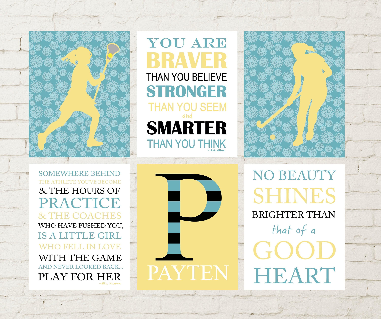 Field hockey field hockey girl wall art lacrosse wall art