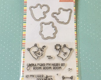 Mama Elephant Stamps & Die set - Little Monsters - Clear stamps/Boom/cardmaker