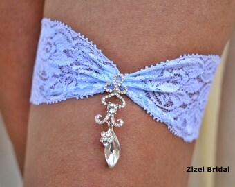 Light Blue Garter, Brides Garter Set, Lace Garter, Rhinestone garter, Vintage Garter, Garter Set Blue, Lace Garter Set, Garter Blue, Jewelry