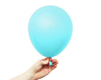 "Aqua Balloons - 11"" Latex Standard Balloon - 5 Balloons - Light Blue Caribbean"