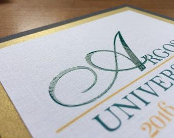 High School graduation announcement/Square Graduation Announcement/Unique Graduation Announcement